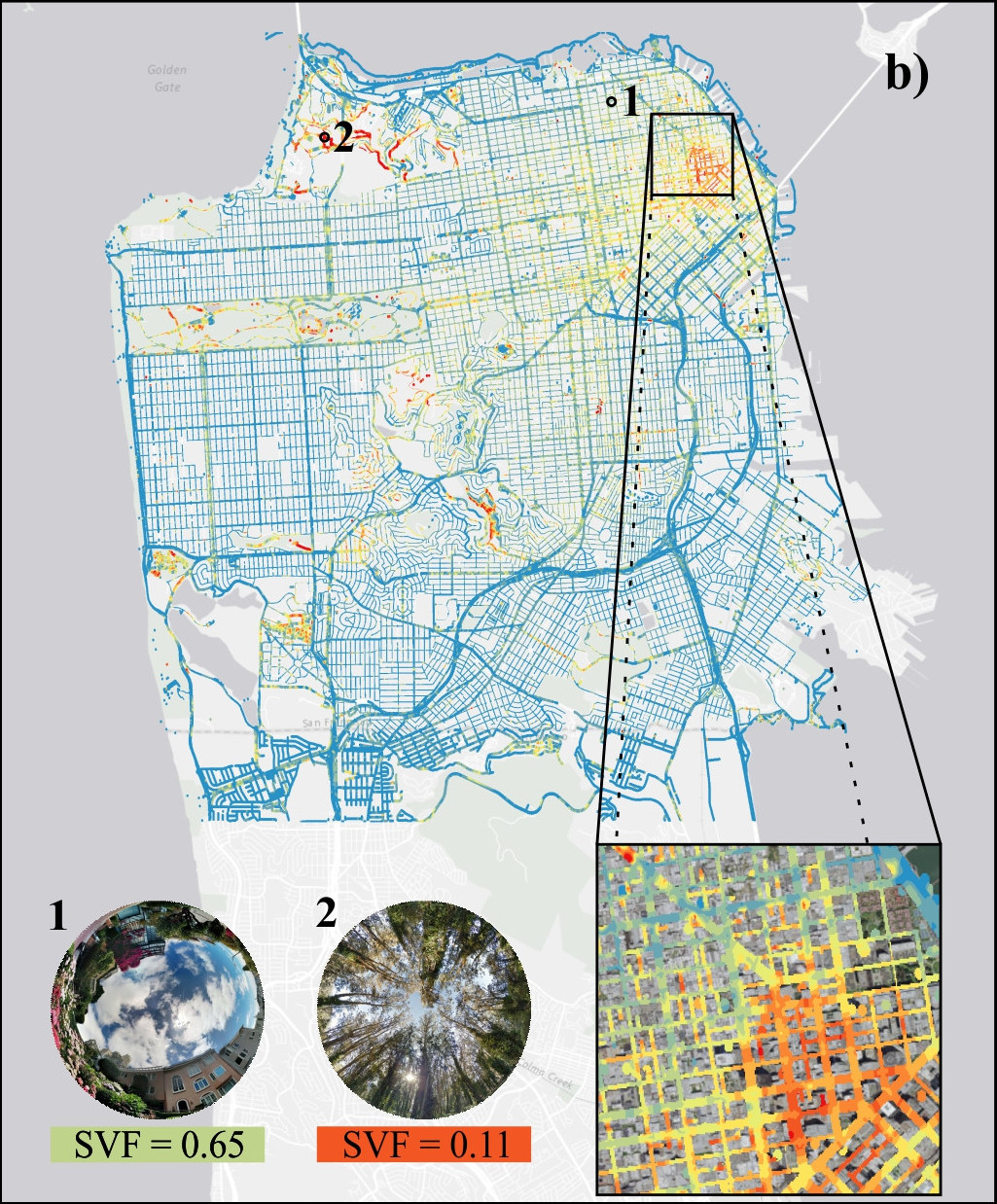 Sky View Factor Footprints for Urban Climate Modeling
