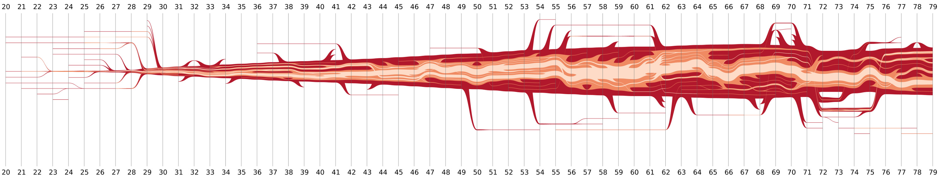 Nested Tracking Graph for the Viscous Finger Dataset